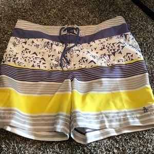Men's 34 Penguin swim trunks